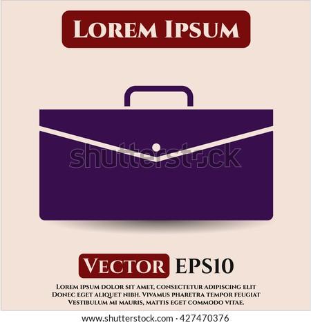 Business Briefcase vector icon