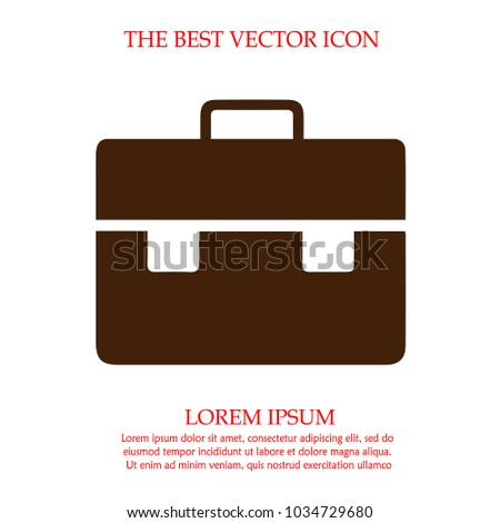 Business briefcase vector icon eps 10.