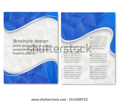 Business Brochure. Blue Flyer Template. Geometric Cover Design ...
