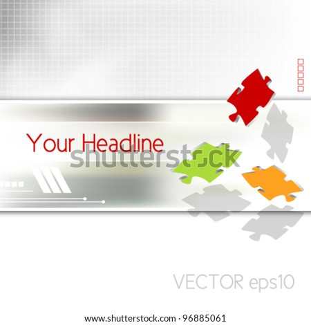 Business brochure - corporate background design - advertising template - puzzle pieces