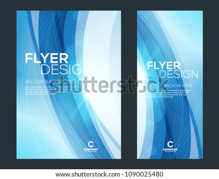 Business brochure cover or banner design template. Business flyer and leaflet with abstract colorful background.