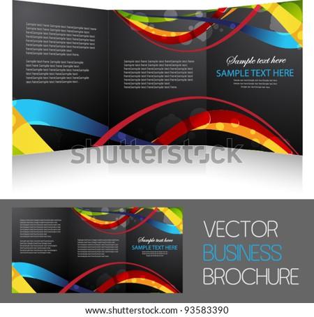 Tri Fold Brochure Vector Icons Download Free Vector Art – Sample Business Brochure