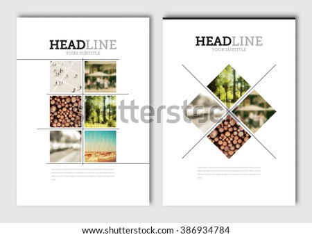 Business brochure design template. Vector flyer layout, blur background with elements for magazine, cover, poster design. A4 size.