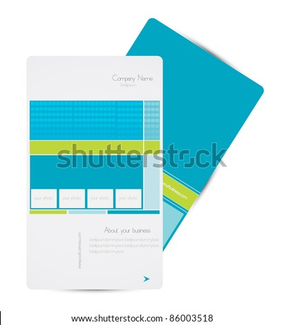 business brochure design with photo frame vector