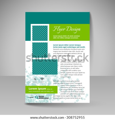 Business brochure. Editable A4 poster for design cover of magazine, education, presentation, website. Flyer template. #308752955