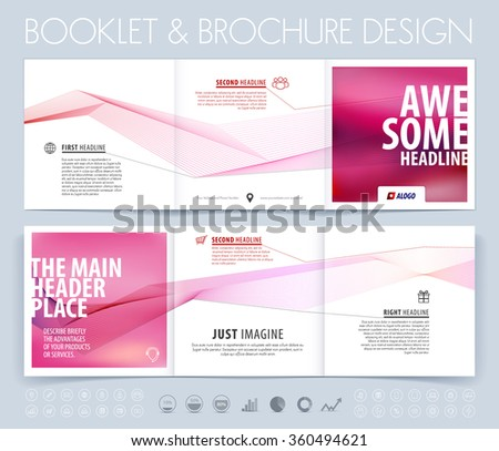 business brochure  flyer and