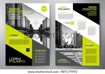 business brochure flyer design a4 template vector illustration ez