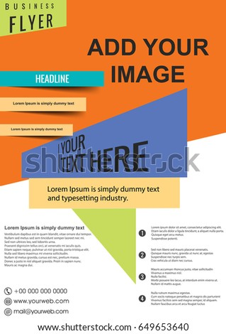 Shutterstock business brochure flyer design layout template in A4 size, vector eps10.
