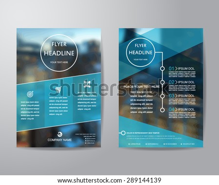 Shutterstock business brochure flyer design layout template in A4 size, with blur background, vector eps10.