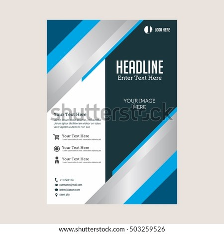 Business brochure flyer design layout template. Vector Illustration in size A4 #503259526