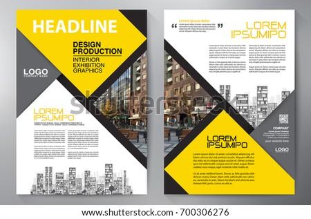 flyer cover business brochure design modern layout template