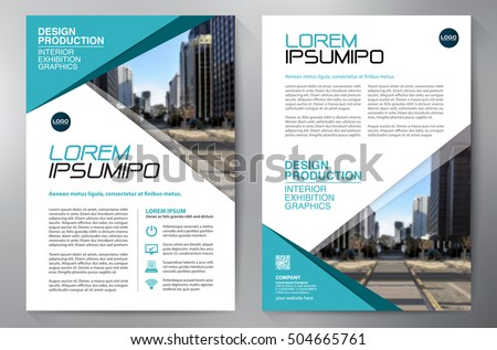 Business Brochure. Flyer Design. Leaflets a4 Template. Cover Book and Magzine. Annual Report Vector illustration