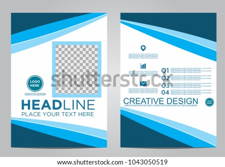 Business brochure flyer design template. #1043050519