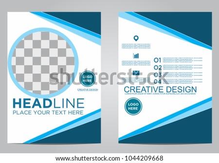 Business brochure flyer design template. #1044209668