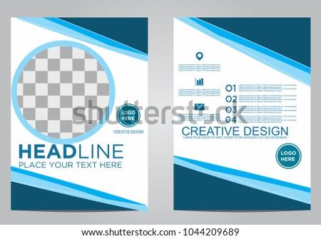 Business brochure flyer design template. #1044209689