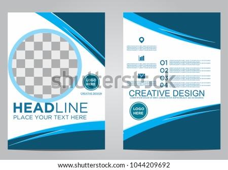 Business brochure flyer design template. #1044209692