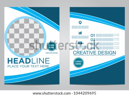 Business brochure flyer design template. #1044209695