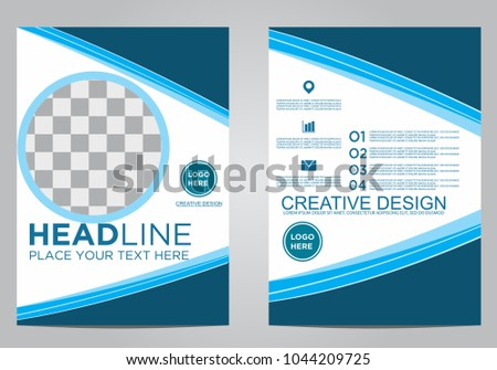 Business brochure flyer design template. #1044209725
