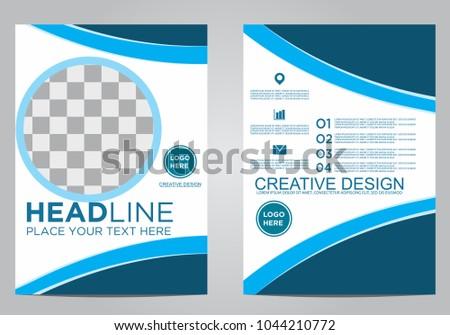 Business brochure flyer design template. #1044210772