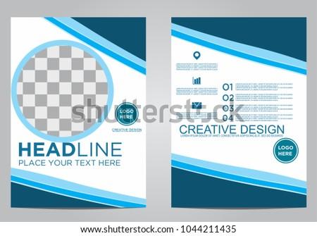 Business brochure flyer design template. #1044211435