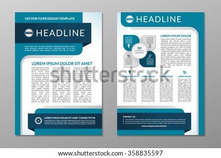 Vector Brochure Flyer Design Layout Template In A Size Download - A4 brochure template