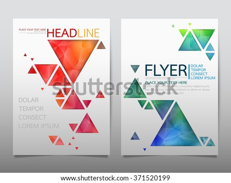 business brochure flyer design template vector.geometric triangle abstract background.layout in A4 size