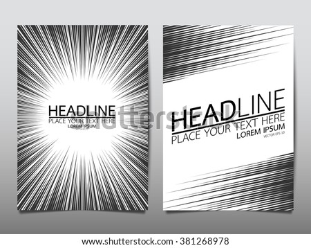 business brochure flyer design template vector.radial speed abstract background.layout for comic books.