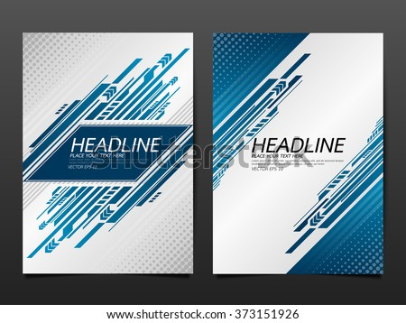 business brochure flyer design template vector.technology speed abstract background.layout in A4 size