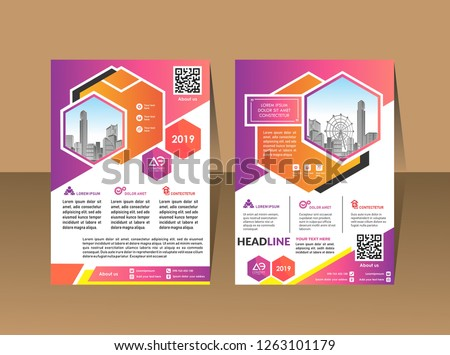 Modern Company Profile Template - Download Free Vector Art, Stock