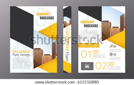 company brochure template with colorful shapes - Download Free ...