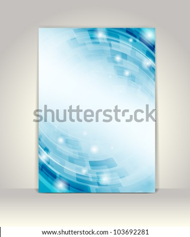 Business brochure template, abstract technology design