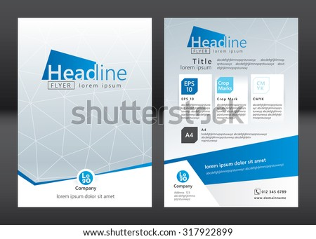 Business brochure template. Brochure template design. Vector illustration