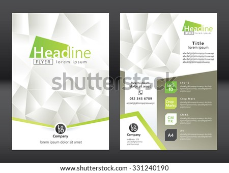 Business Brochure Template. Brochure Template Design. Vector Illustration  Phamplet Template