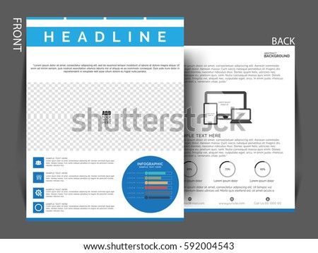 Annual Report Brochure Template Flyer Leaflet Presentation - Template for brochure