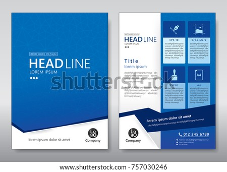 Business brochure template. Brochure template design. Vector illustration