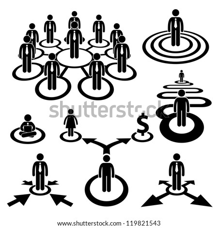 Business Businessman Workforce Teamwork Company Cooperation Stick Human Resources Figure Pictogram Icon