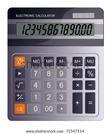 Business calculator. Vector. - stock vector