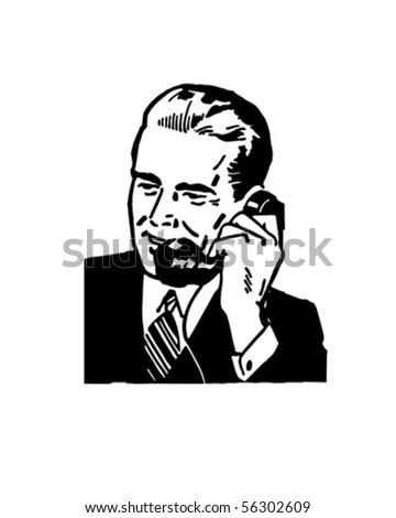 Business Call - Retro Clip Art