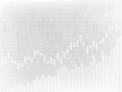 Business candle stick chart of stock market investment trading, Bullish point, Bearish point on a gray background. Vector illustrations.