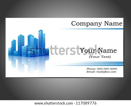 Modern Business Card Template With Blue Pattern Download Free - Construction business card template