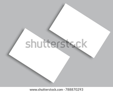 Blank business card mockup presentation design download vetores e business card blank with shadow mockup cover template reheart Images