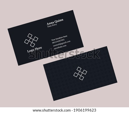 Business card design in adobe Illustrator CC vector EPS version 10