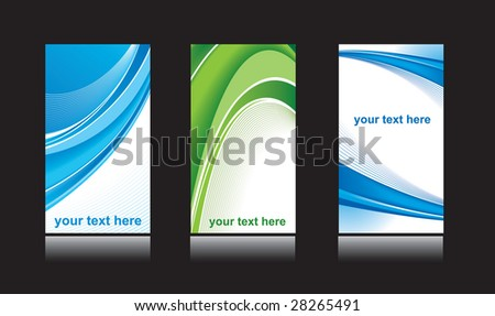Business card design set vector