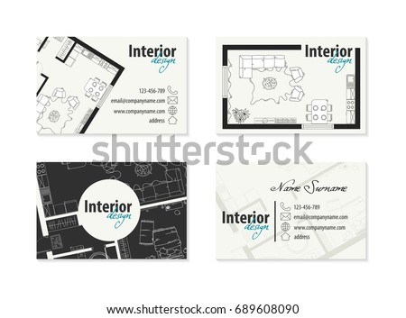 business card for interior designer, decorator