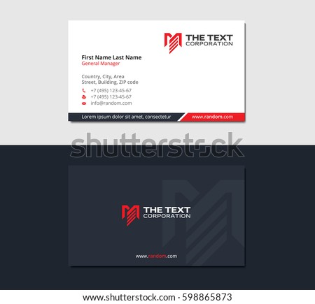 business card for retail and marketing with the letter M