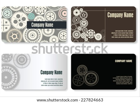 Business card with gear download free vector art stock graphics business card gear design malvernweather Gallery