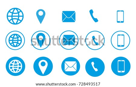 Business card information vector