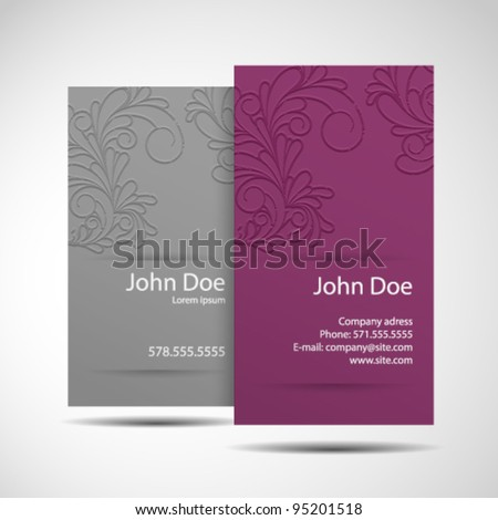 Business Card monochrome Stylish and modern business card