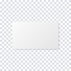 Business card realistic mockup. Blank realistic card template. Realistic business credit mockup. Stock vector. EPS 10