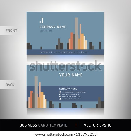 Business Card Set. Vector illustration.